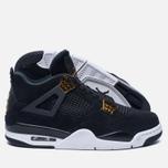 Мужские кроссовки Jordan Air Jordan 4 Royalty Black/Black/Metallic Gold/White фото- 2