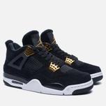 Мужские кроссовки Jordan Air Jordan 4 Royalty Black/Black/Metallic Gold/White фото- 1