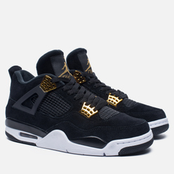 Мужские кроссовки Jordan Air Jordan 4 Royalty Black/Black/Metallic Gold/White