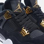 Мужские кроссовки Jordan Air Jordan 4 Royalty Black/Black/Metallic Gold/White фото- 3
