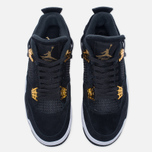 Мужские кроссовки Jordan Air Jordan 4 Royalty Black/Black/Metallic Gold/White фото- 4