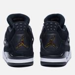 Мужские кроссовки Jordan Air Jordan 4 Royalty Black/Black/Metallic Gold/White фото- 5