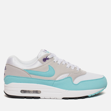 Мужские кроссовки Nike Air Max 1 Anniversary White/Aqua/Neutral Grey/Black