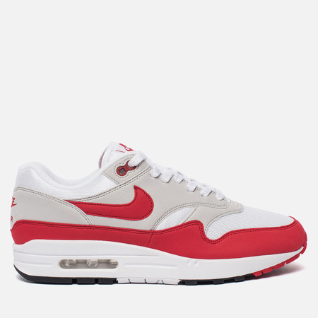Мужские кроссовки Nike Air Max 1 Anniversary White/University Red/Neutral Grey/Black