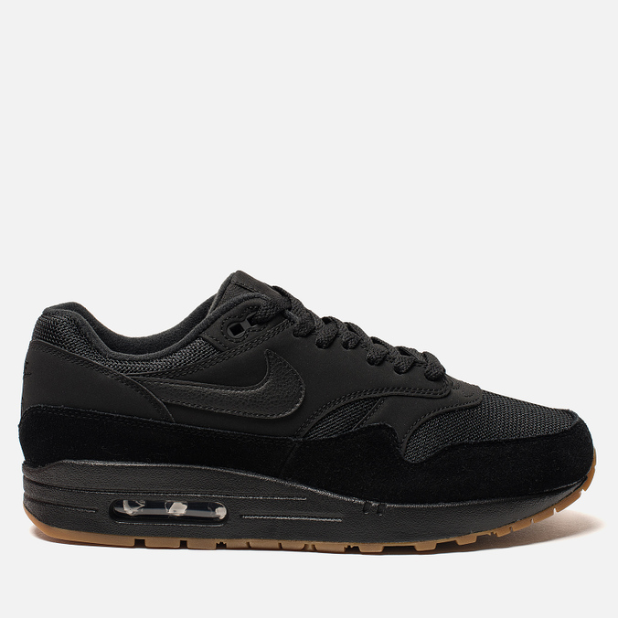 Мужские кроссовки Nike Air Max 1 Black/Black/Gum Medium Brown/Black