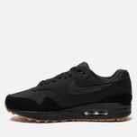 Мужские кроссовки Nike Air Max 1 Black/Black/Gum Medium Brown/Black фото- 1