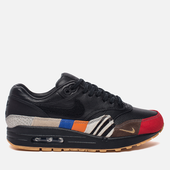 Мужские кроссовки Nike Air Max 1 Master Black/Black/University Red/International Blue