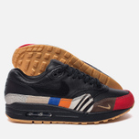 Мужские кроссовки Nike Air Max 1 Master Black/Black/University Red/International Blue фото- 1