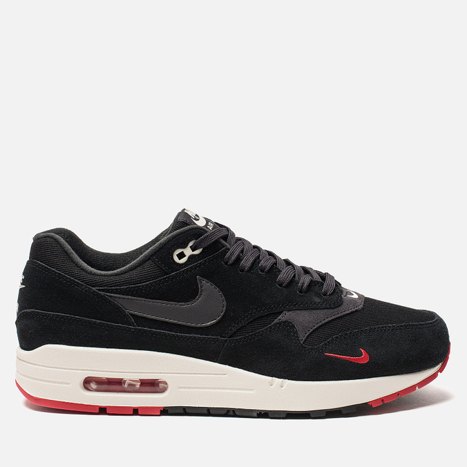 Мужские кроссовки Nike Air Max 1 Premium Black/Oil Grey/University Red/Sail