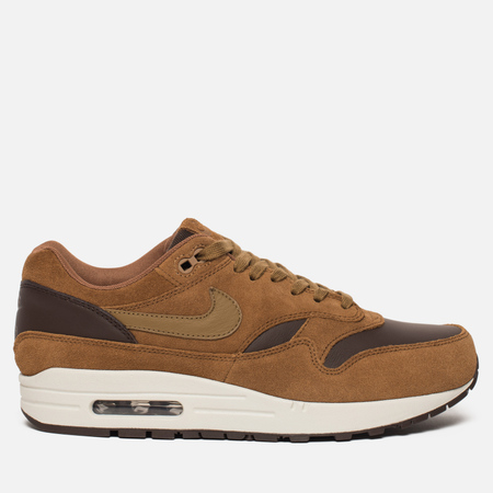 Мужские кроссовки Nike Air Max 1 Premium Leather Ale Brown/Golden Beige/Baroque Brown
