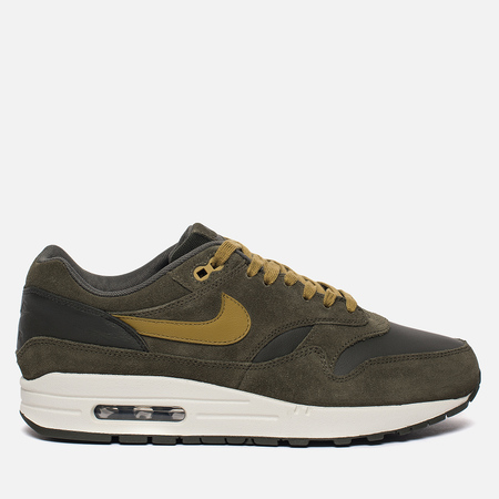 Мужские кроссовки Nike Air Max 1 Premium Leather Sequoia/Cargo Khaki/Sail/Desert Moss