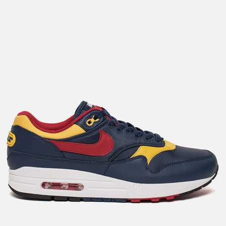 Мужские кроссовки Nike Air Max 1 Premium Navy/Gym Red/Vivid Sulfur/White