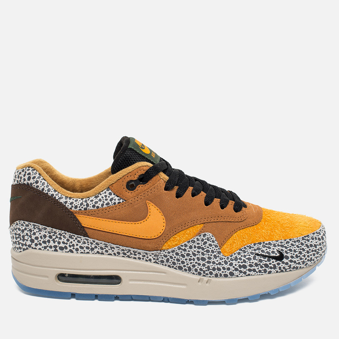 Мужские кроссовки Nike Air Max 1 Premium QS Safari Flax/Kumquat/Chestnut