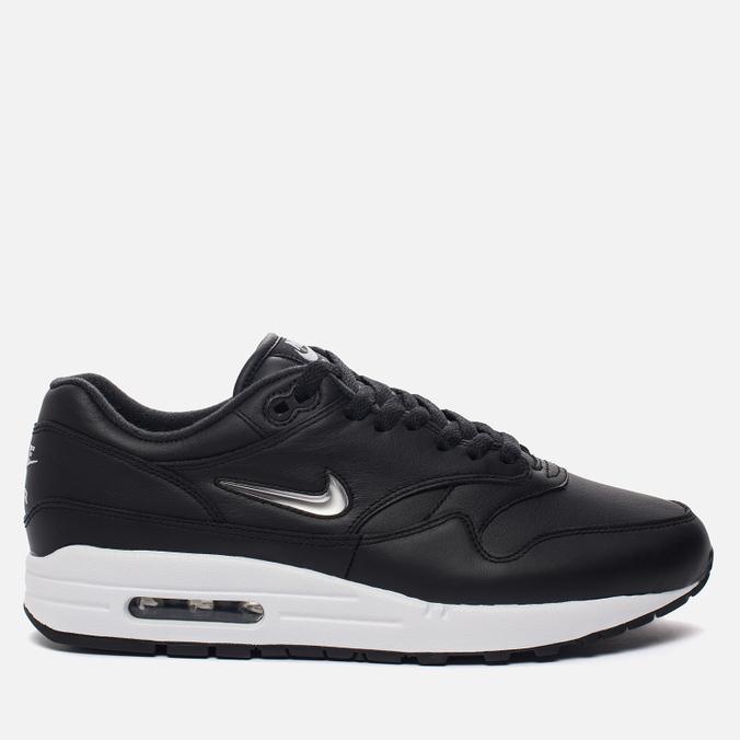 bddbcb23 Мужские кроссовки Nike Air Max 1 Premium SC Black/Metallic Silver/White ...