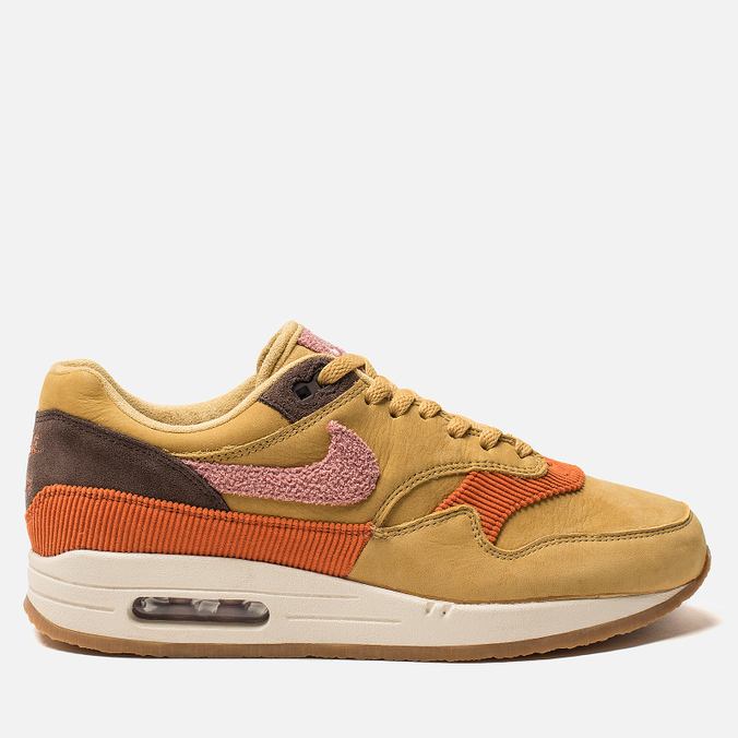 Мужские кроссовки Nike Air Max 1 Premium Wheat Gold/Rust Pink/Baroque Brown