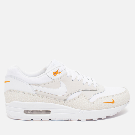 Nike Air Max 1 Premium Men's Sneakers White/Kumquat