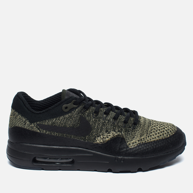 Мужские кроссовки Nike Air Max 1 Ultra Flyknit Neutral Olive/Black/Sequoia