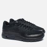 Мужские кроссовки Nike Air Max 1 Ultra Flyknit Triple Black фото- 1