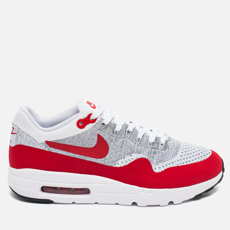 Nike Air Max 1 Ultra Flyknit Men's Sneakers Varsity Red/White