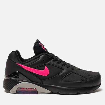 Мужские кроссовки Nike Air Max 180 Black/Wolf Grey/Pink Blast