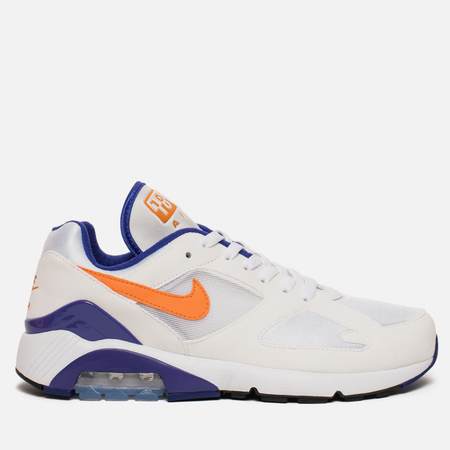 Мужские кроссовки Nike Air Max 180 White/Bright Ceramic/Dark Concord