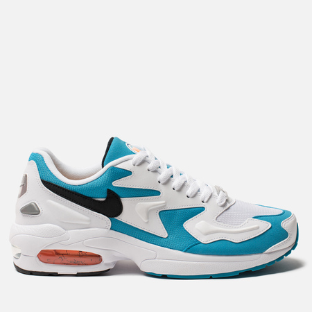 Мужские кроссовки Nike Air Max 2 Light White/Black/Blue Lagoon/Laser Orange