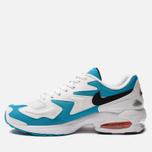 Мужские кроссовки Nike Air Max 2 Light White/Black/Blue Lagoon/Laser Orange фото- 1