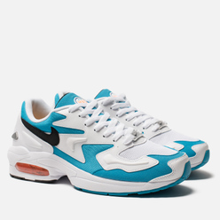 Мужские кроссовки Nike Air Max 2 Light White/Black/Blue Lagoon/Laser Orange