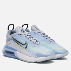 Мужские кроссовки Nike Air Max 2090 Ice Blue/Black/Laser Orange/White