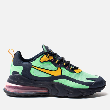 Мужские кроссовки Nike Air Max 270 React Electro Green/Yellow Ochre/Obsidian