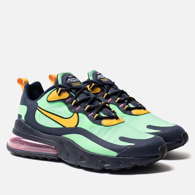 Мужские кроссовки Nike Air Max 270 React Electro Green/Yellow Ochre/Obsidian