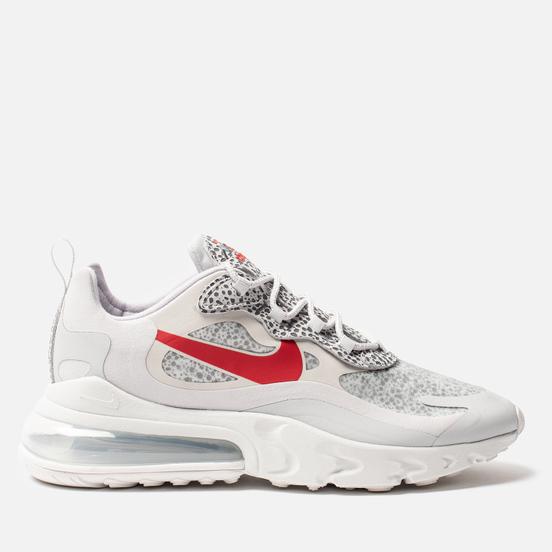 Мужские кроссовки Nike Air Max 270 React Neutral Grey/University Red/Light Graphite