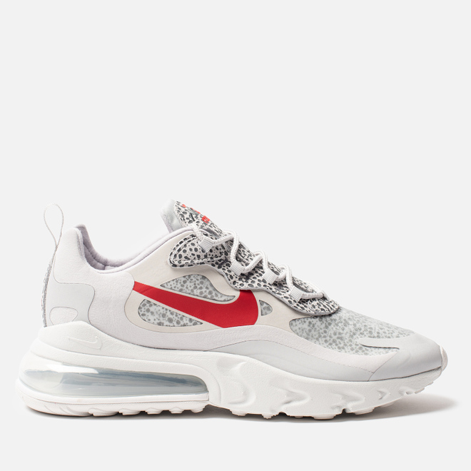 Мужские кроссовки Nike Air Max 270 React Neutral Grey/University Red/Light Graphite