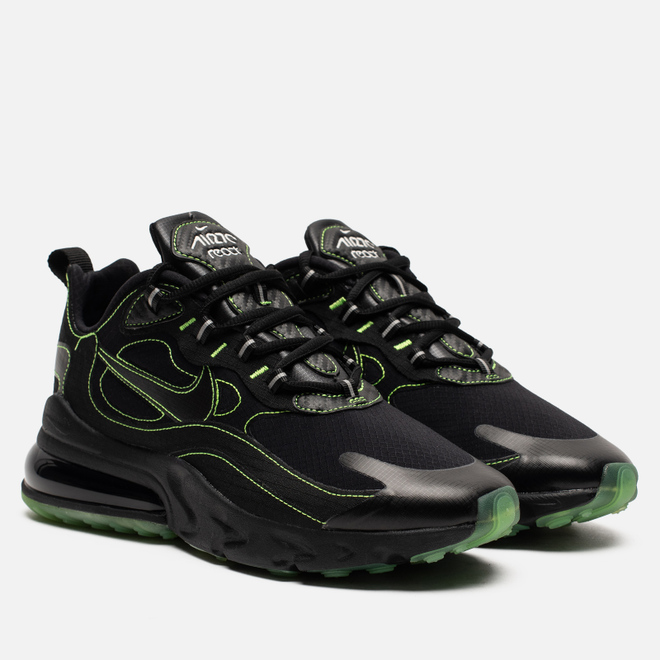 Мужские кроссовки Nike Air Max 270 React SP Black/Black/Electric Green