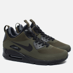 Мужские зимние кроссовки Nike Air Max 90 Mid Winter Dark Loden/Black/Dark Grey фото- 1