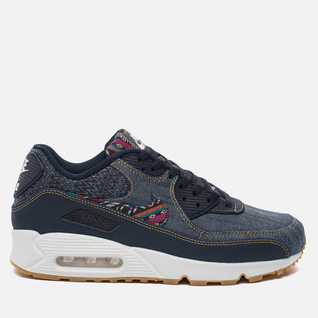 Мужские кроссовки Nike Air Max 90 Premium Afro Punk Pack Obsidian/Dark Obsidian/Summit White