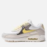 Мужские кроссовки Nike Air Max 90 Premium White/Lemon Frost/Light Bone фото- 1