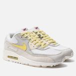 Мужские кроссовки Nike Air Max 90 Premium White/Lemon Frost/Light Bone фото- 2