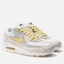 Мужские кроссовки Nike Air Max 90 Premium White/Lemon Frost/Light Bone фото- 0