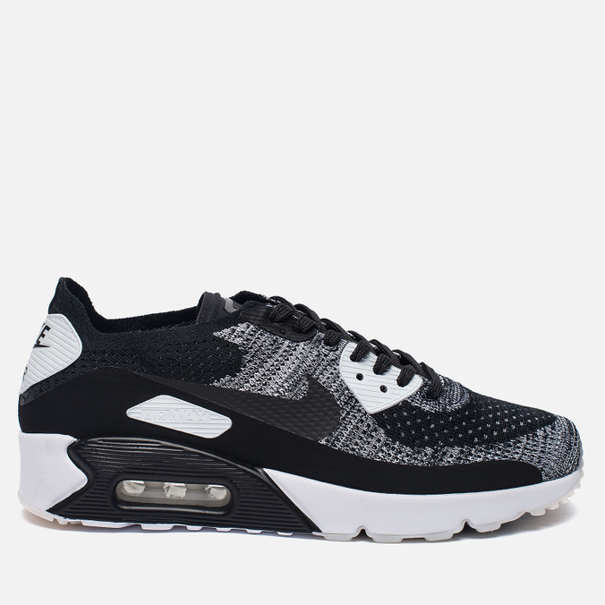 Мужские кроссовки Nike Air Max 90 Ultra 2.0 Flyknit Black/Black/White