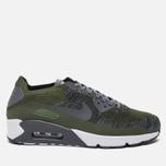 Мужские кроссовки Nike Air Max 90 Ultra 2.0 Flyknit Rough Green/Dark Grey/White/Black фото- 0