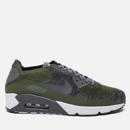 Мужские кроссовки Nike Air Max 90 Ultra 2.0 Flyknit Rough Green/Dark Grey/White/Black