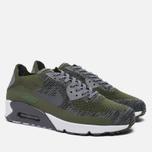 Мужские кроссовки Nike Air Max 90 Ultra 2.0 Flyknit Rough Green/Dark Grey/White/Black фото- 2
