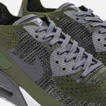 Мужские кроссовки Nike Air Max 90 Ultra 2.0 Flyknit Rough Green/Dark Grey/White/Black фото- 3