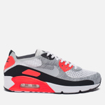 Мужские кроссовки Nike Air Max 90 Ultra 2.0 Flyknit White/Wolf Grey/Bright Crimson фото- 0