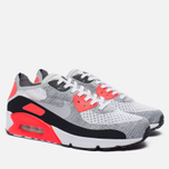 Мужские кроссовки Nike Air Max 90 Ultra 2.0 Flyknit White/Wolf Grey/Bright Crimson фото- 2
