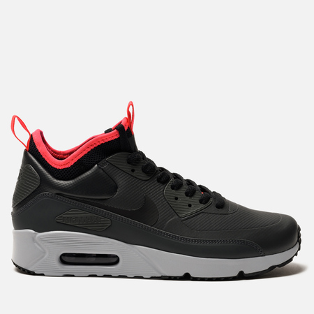 Мужские кроссовки Nike Air Max 90 Ultra Mid Winter Anthracite/Black/Solar Red