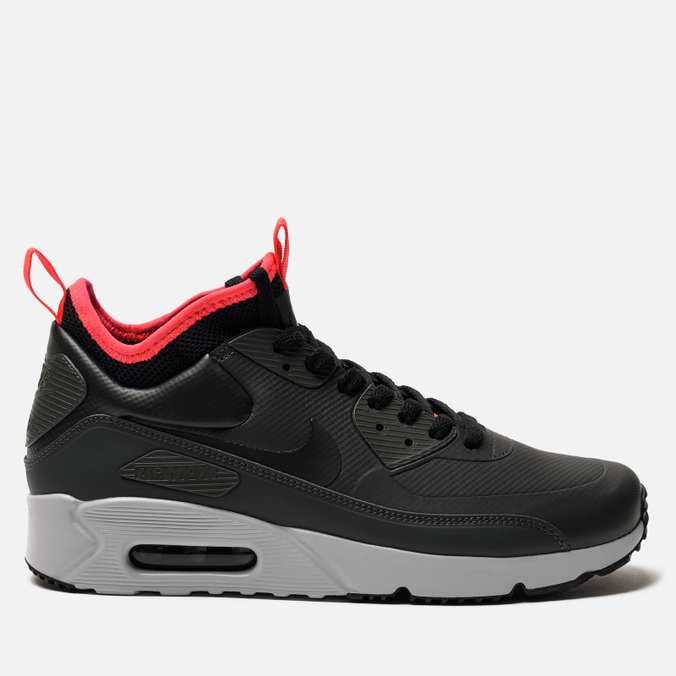 60051df2 Мужские кроссовки Nike Air Max 90 Ultra Mid Winter Anthracite/Black/Solar  Red