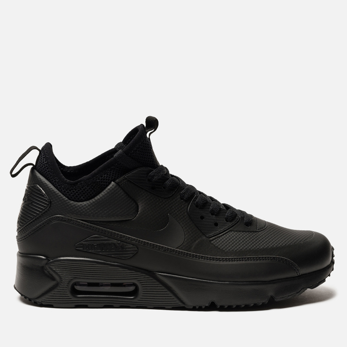 33077337 Мужские кроссовки Nike Air Max 90 Ultra Mid Winter Black/Black/Anthracite