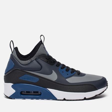 Мужские кроссовки Nike Air Max 90 Ultra Mid Winter Obsidian/Black/Gym Blue/Cool Grey